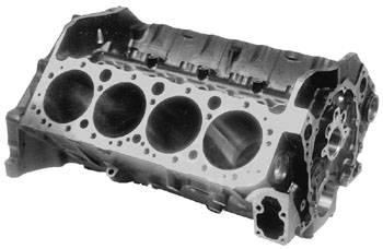 """Chevrolet Performance Parts - 10105123 - Goodwrench Production Chevy Small Block - 4.000"""" Bore, 9.025"""" Deck, 2.45"""" Mains, 4 Bolt Main, Non-Siamesed Bores, 1 Piece Rear Main Seal"""