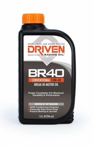 Joe Gibbs Driven Racing Oil - JGD-03706 - Joe Gibbs BR40 Break-In Motor Oil (10W40), 1 Quart