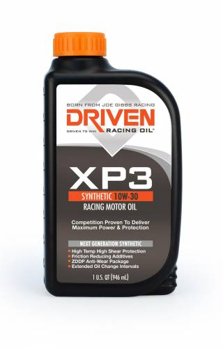 Joe Gibbs Driven Racing Oil - JGD-00306 - Joe Gibbs Synthetic Racing Oil (XP3) - 10W-30 - 1 Quart Bottle