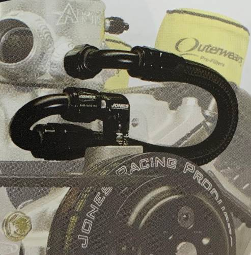 "Jones Racing Fans - EXT-9104-10 ""-10"" Braided Line and Fittings to run from the water pump to your expansion tank"