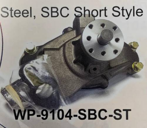 Jones Racing Fans - WP-9104-SBC-ST Steel, SBC Short Style Water Pump
