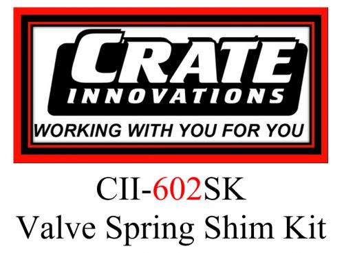 Crate Innovations - CII-602SK  Crate Innovations 602 Valve Spring Shim Kit