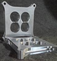 "Carburetors & Fuel Supply - Carb Spacers - Crate Innovations - CII-1001-PLUS  Accelerator-1 PLUS Angled 1"" Circle Track Spacer 4150"