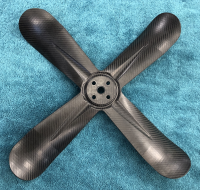 "Cooling Parts - Fans - Walker Air Filters - Walker 19"" Carbon Fiber 4-Blade Fan"