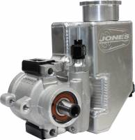 Cooling Parts - Jones Pumps & Components - Jones Racing Fans - Jones Aluminum Power Steering Pump with Aluminum Tank